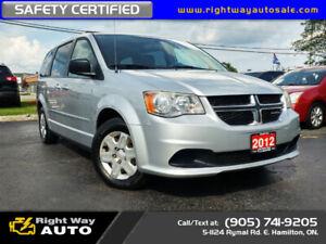 2012 Dodge Grand Caravan SE | LOW KMS | SAFETY CERTIFED