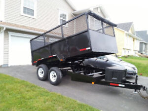 BRAND  NEW ONLY 1 LEFT 10000 POUND DUMP TRAILER 7X12  PRICE$7980