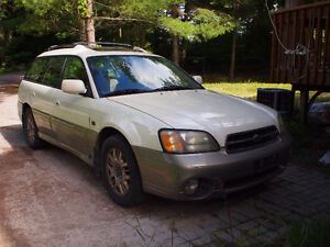 2002 Subaru Outback LL Bean H6-3.0 AS IS or PARTS Peterborough Peterborough Area image 2