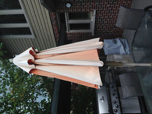 Orange treasure garden patio umbrella