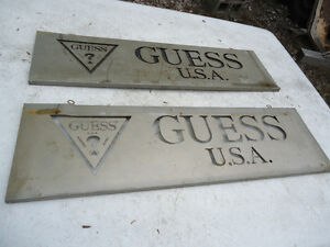 Vintage Guess Jeans USA Metal Signs from jean store Peterborough Peterborough Area image 1