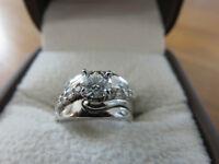 Bague récente 14K, 11 diamants, évaluation de 6375$ pour 2800$