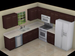 SOLID WOOD Kitchen Cabinet + Countertop Promotion---$3999