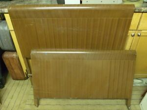 Brown Metal Headboard, Footboard & Bed Rails