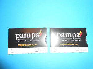 Pampa Brazilian Steakhouse two $50 Gift Cards for $80