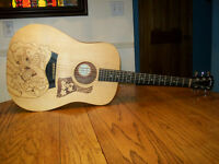Custom Taylor Big Baby guitar with soft case