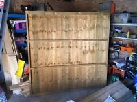 6ft by 6ft wood fence panel