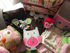 Complete Owl Bedding Set and Accessories