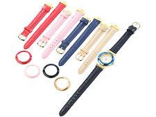 Damenuhr mit 5 farbigen Wechsel-Armbändern