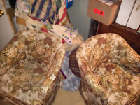 Two matching tub chairs