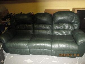 Leather Sofa , with recliners
