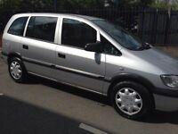 54 Plate Vauxhall Zafira 1.6 Club. 7 Seater. 1 yr Mot , Service History, choice of Silver or BLACK
