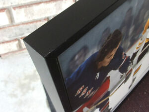 BOBBY ORR #4 BOSTON BRUINS LARGE FRAMED GICLEE CANVAS FACEOFF London Ontario image 4