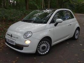 2011 11 Fiat 500 1.2 ( 69bhp ) LOUNGE..PANORAMIC GLASS ROOF..STUNNING!!