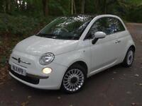 2011 11 Fiat 500 1.2 ( 69bhp ) LOUNGE..PANORAMIC GLASS ROOF