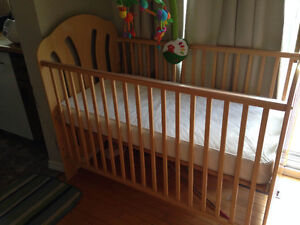 crib with mattress and mobile in good condition for $50 only