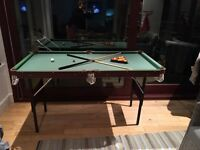 Snooker/Pool table - compact and folding legs