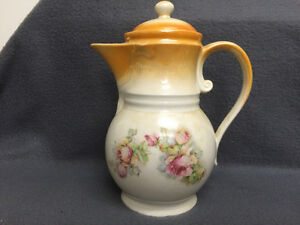 Collectible Antique Tall Lidded Tea Pot Made in Germany