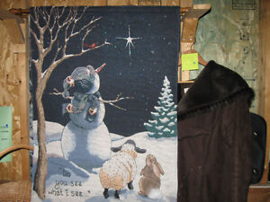 Snowman Wall Hanging with Lites