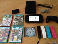 Wii U Black 32GB (5x Controllers and 5x Games)