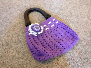 Hand knit bag - perfect condition never used!