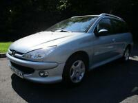 05/55 PEUGEOT 206 1.4 HDI SW ESTATE IN MET SILVER WITH 89,000 MILES