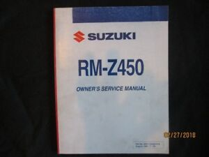 2004 - 2005 SUZUKI RM-Z450 OWNERS SERVICE MANUAL