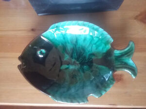 Blue Mountain Pottery Fish Plate