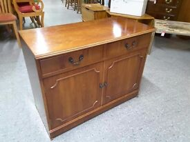 XMAS SALE NOW ON - Walnut Veneered Sideboard - Can Deliver For £19