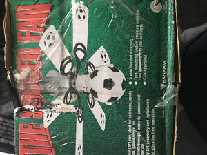 Soccer ceiling lighting fan
