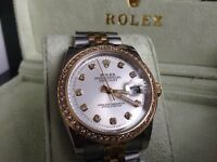 Rolex Datejust Diamond Baguette
