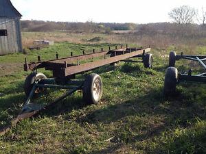 FARM HAY WAGON RUNNING GEAR & STEEL FRAME London Ontario image 1