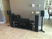 HOME THEATER SYSTEM DRIVEN BY HIGH-END POLK AUDIO SPEAKERS