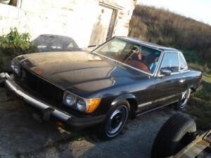 1974 Mercedes 450sl parts car