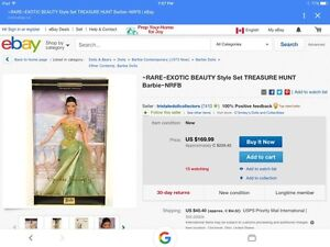 RARE~EXOTIC BEAUTY Style Set TREASURE HUNT Barbie St. John's Newfoundland image 9