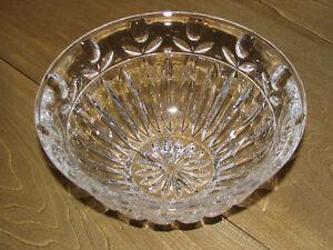 Crystal Cut Glass Fruit Bowl, Tulip Flower Pattern, Heavy
