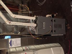 Kenmore furnace 1 year on job.