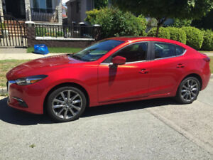 Lease Takeover - Mazda 3 GT 2018 with $1000 Cash Incentive
