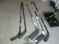 Set de batons hockey sticks ( 2 gardien, 3 joueur)