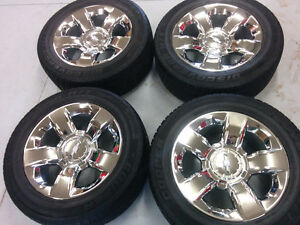 Silverado 20 factory chrome wheels tires