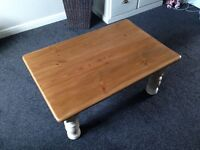 Gorgeous Chunky Solid Pine Refurbished Antique Coffee Table