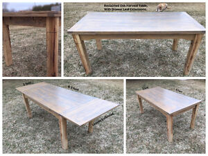 Beautiful Handcrafted Harvest Table For Sale