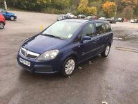 Vauxhall Zafira Life 2007 first reg 2008 1,9 cdti for sale or swap for a van