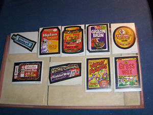 O-PEE-CHEE WACKY PACKAGES-LOT OF 9 STICKERS-ESCUIRE-HIPTON+