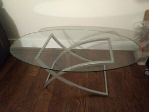 2 Mathcing Glass Tables