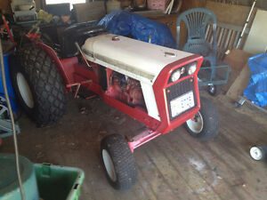 Antique International Cub Lo-Boy 4 cyl. gas with implements