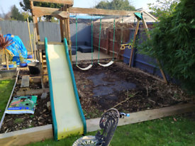 Swing and slide playground set - Already dismantled.
