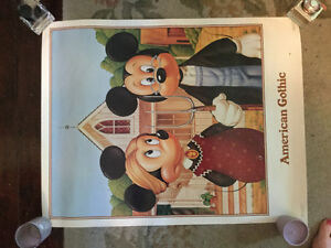 HALF PRICE! Vintage Mickey Mouse poster for sale Regina Regina Area image 2
