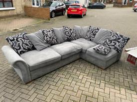 21. Grey material corner sofa