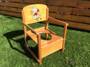 Vintage wooden child's chair - cute for nursery decor!